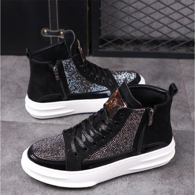 Zapatos informales transpirables para hombre, zapatillas planas de estilo Hip Hop Punk, a la moda, novedad de 2020 6
