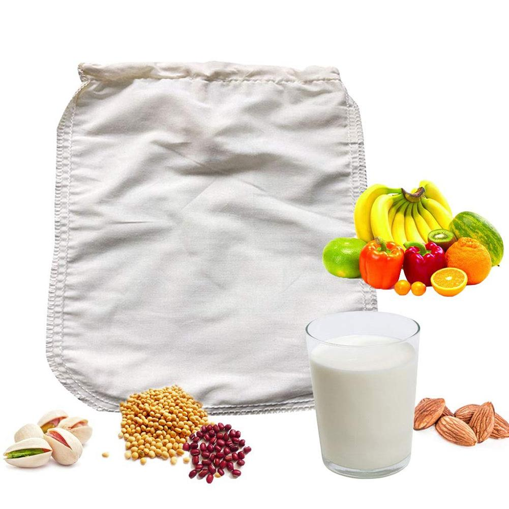 Nut Milk Bag Food Grade Reusable Almond Milk Cotton Bag Strainer Fine Mesh For Cheesecloth Cold Brew Nut Milks Tea Coffee