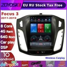 ZOYOSKII Android 10 вертикальный экран Tesla Автомобильный Gps мультимедийный радио-навигатор плеер для Ford Focus 3 Mk 3 салон 2012-2018