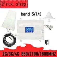 TFX BOOSTER 2G 3G 4G Trị Ban Nhạc Tăng Cường Tín Hiệu Tăng 70dB 23dBm CDMA WCDMA UMTS LTE Di Động Repeater 850/1800/2100 MHz Khuếch Đại