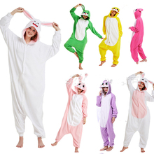 2019 New winter cosplay costume Halloween Party pajama onsies rabbit animals cute funny warm unisex couples kigurumi pajamas