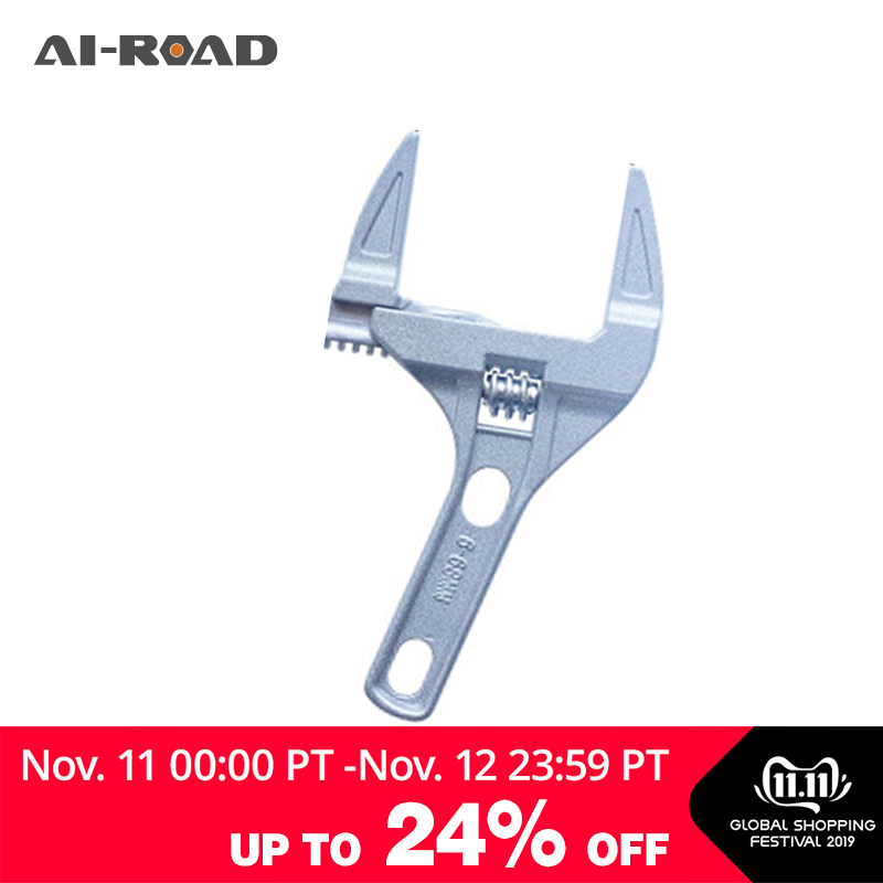 Large Opening Adjustable Wrench Short Handle Bathroom Wrench Multi-function Washbasin Water Faucet Tool Repairy