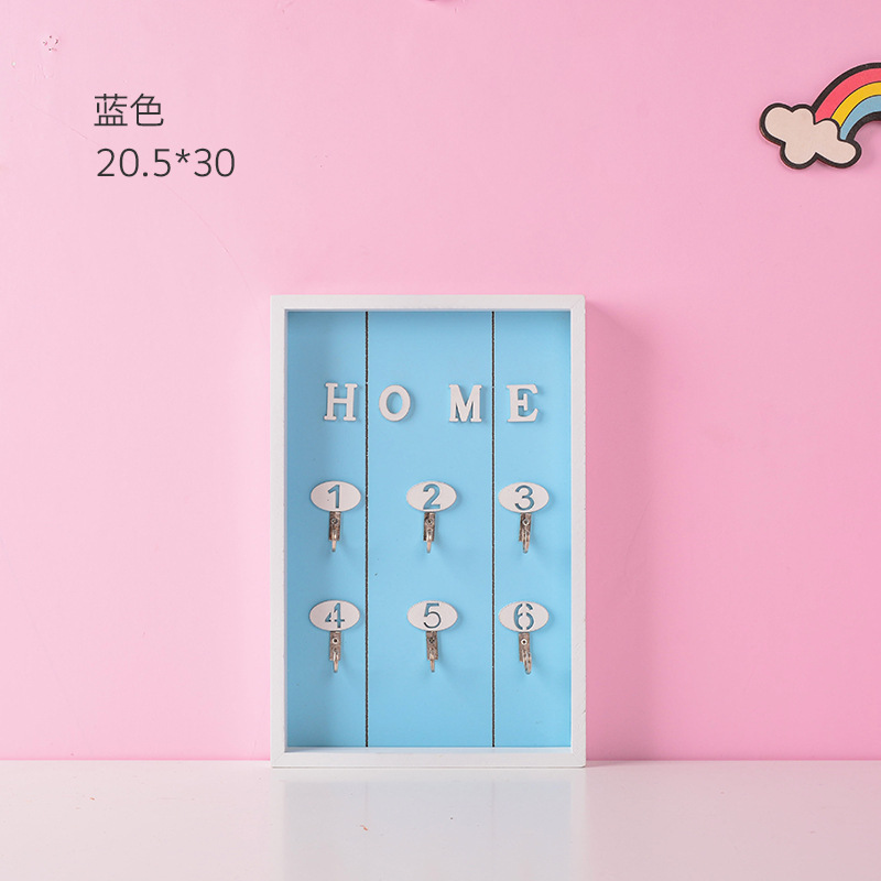Creative Nordic Style Wooden House Key Wall Hanging Jewelry Box Home Crafts Wall Shelf Porch Storage Rack Hanging Hook Key Boxes