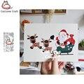 Металлические Вырубные штампы Catlove в виде Санта Клауса, Рождество, искусственные вырубки, изготовление открыток, ремесло «сделай сам», тисн...