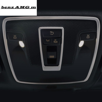 Car Styling Reading lamp frame decorative covers dome light trim sticker for Mercedes Benz GLA CLA A class C117 X156 Accessories chrome car styling cd panel switch button cover sticker trim for mercedes benz cla gla x156 a200 b200 class interior accessories