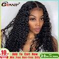 Водная волна Синтетические волосы на кружеве парик вьющиеся Синтетические волосы на кружеве парик человеческих волос парики для Для женщи...