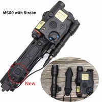 Interruptor táctico de cinta de doble función, linterna M300 M600 y accesorios de caza láser PEQ DBAL, color rojo y verde