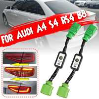 2PCS Dynamic Turn Signal Indicator LED Taillight Add on Module Cable Wire Harnes For Audi A4 S4 RS4 B8 2013~2015 Tail Light