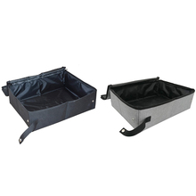 SHGO HOT-Collapsible Portable Cat Litter Box for Travel Light Weight Foldable