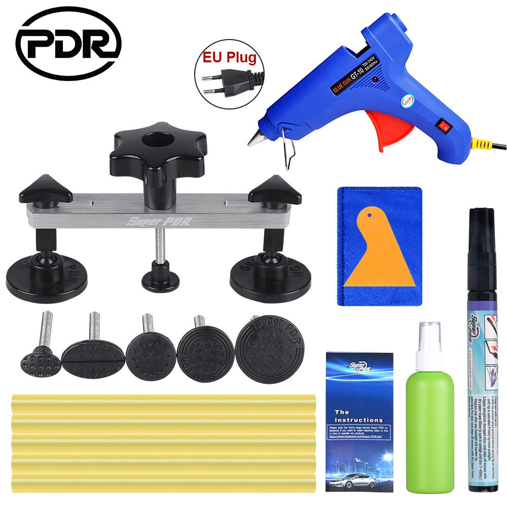 ابزارهای PDR ابزارهای ترمیم دندانه دار بدون رنگ ، اسلحه چسب دندانه دار با کشیدن دندان ، اسلحه چسب با چسب چوب
