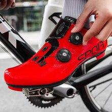 Homem auto bloqueio de estrada ciclismo sapatos de treinamento respirável boa bicicleta tênis profissional spd equitação sapatos de corrida 38-47