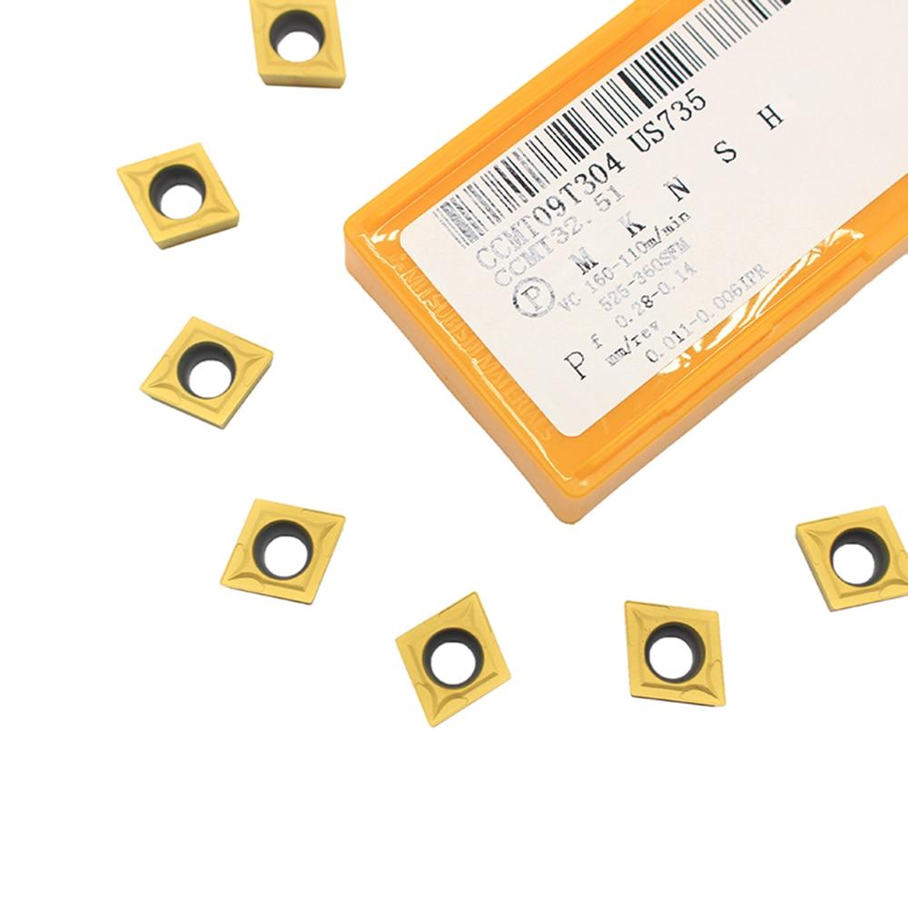 CCMT09T304 UE6020/US735/VP15TF внешние токарные инструменты карбид Вставки токарный станок резак инструмент токарный токарная пластина