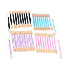 10PC Eyeshadow Applicator Pro Sponge Double Ended Make Up Supplies Portable Eye Shadow Brushes Nail Mirror Powder Brush