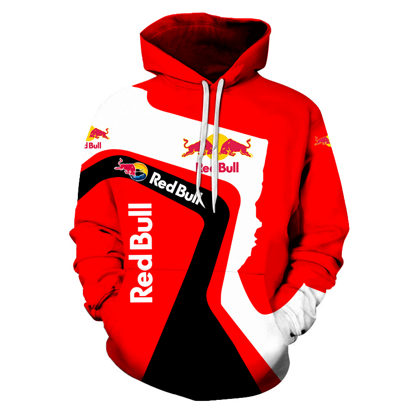 New Bull Pattern Red Fashion Men's And Women's Hoodie Spring And Autumn Long Sleeve Loose 3D Pullover Sweatshirt Couple Hoodie
