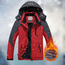 Winter Men's Hooded Jacket Parkas Outdoor Skiing Waterproof Fleece Coats Men Clothes Sports Warm Climbing Suit Windproof Parka free shipping 2017 the new winter more men s long section hooded clothes leisure warm and windproof parkas winter wear coats