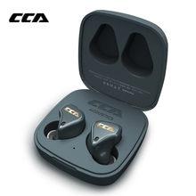 Cca cx4 1ba + 1dd tws bluetooth 5.0 híbrido fones de ouvido com cancelamento ruído controle toque esportes CCA C10 PRO CA16 C12 ZSX BA8 VX KZ Z1 S2 S1 Z3