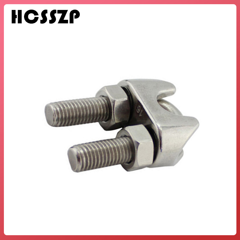 HCSSZP 10 Pcs M2/3/4/5/6/8/10/12 Wire Rope Clip U Type 304 Stainless Steel Cable Bolts Rigging Hardware Clamps Free Shipping-in Marine Hardware from Automobiles & Motorcycles