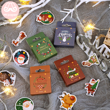 Mr.paper 50pcs/pack Merry Christmas Snowman Christmas Tree Ring Bells Stickers Little Box DIY Santa Claus Reinbeer Deco Stickers christmas bells tree santa claus zip up hoodie