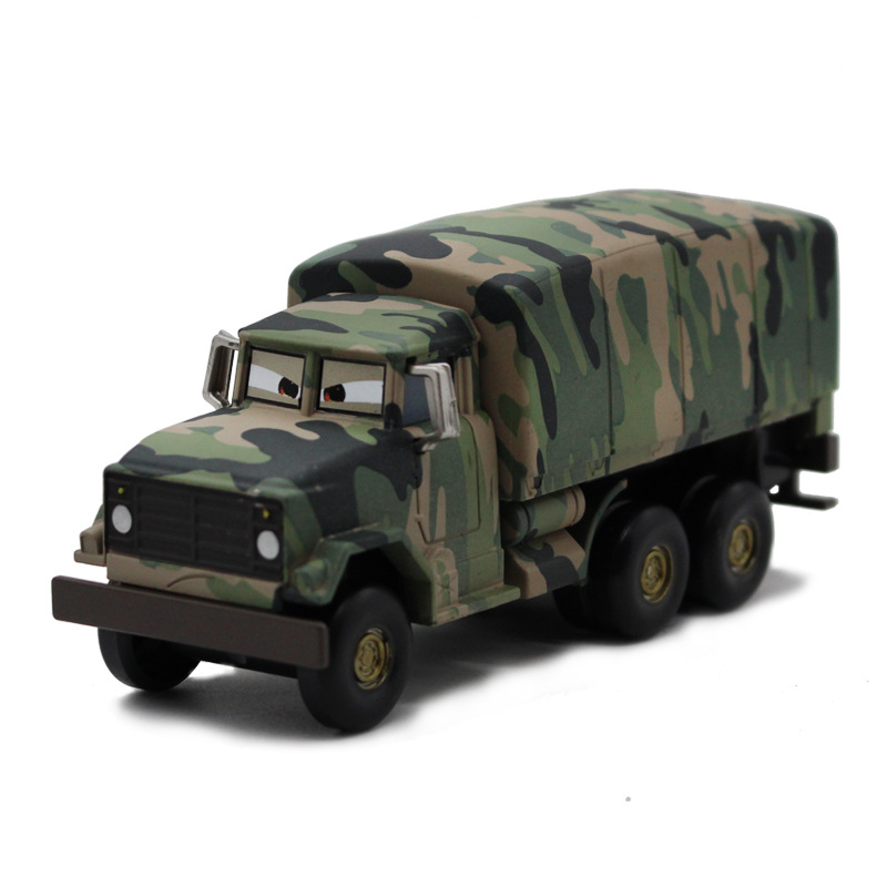 Disney Pixar Car 3 Camouflage Army McQueen Truck Alloy Children's Toy Car Model Pixar Car Action Figures Toys Birthday Gift