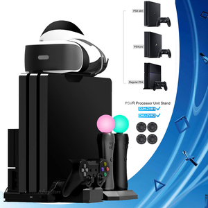 PS4 Pro Slim / PS VR Move Vertical Stand Cooler Cooling Fan Controller Charger Charging Dock for Sony Playstation 4 & PSVR Move(China)