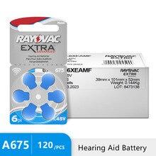 Rayovac pilas Extra para audífono, Zinc Air 675A 120 A675 PR44, 675 Uds.