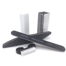 5 шт/компл пилка для ногтей с УФ гелем черные наборы Кисть наждачная