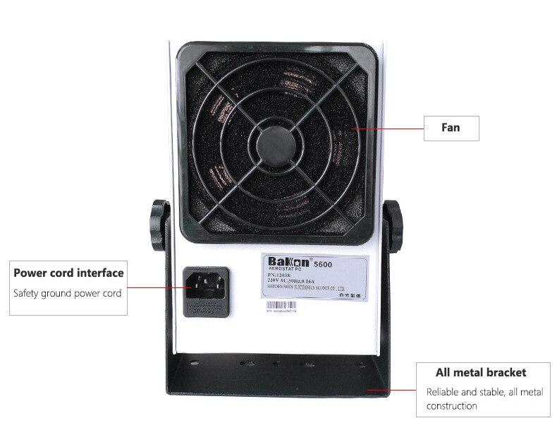 Os ionizadores de bancada eliminam a ionização