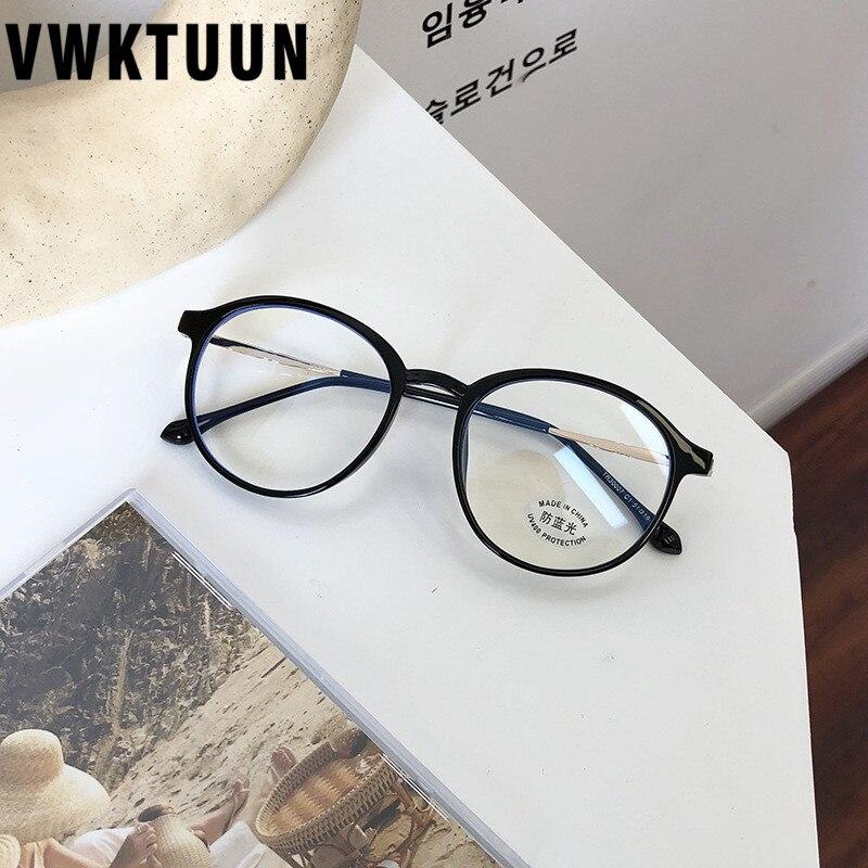 Купить vwktuun tr90 анти синий светильник круглые очки оправа женский