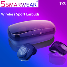 Tx3 Tws 5.0 Wireless Bluetooth Earphone Ipx5 Waterproof 3d Stereo Headphone Touch Control Earbuds 3000ma Large Battery