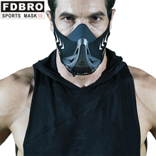 FDBRO Sports Running Mask Six-speed Training Oxygen Barrier Resistance Elevation Cardio Endurance