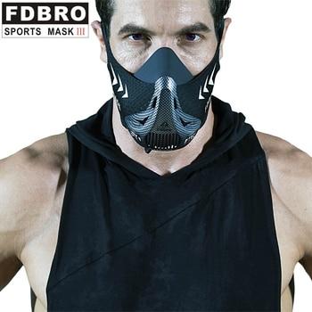 FDBRO Sports Running Mask Sports Mask Six-speed Training Oxygen Barrier Oxygen Resistance Elevation Cardio Endurance Mask