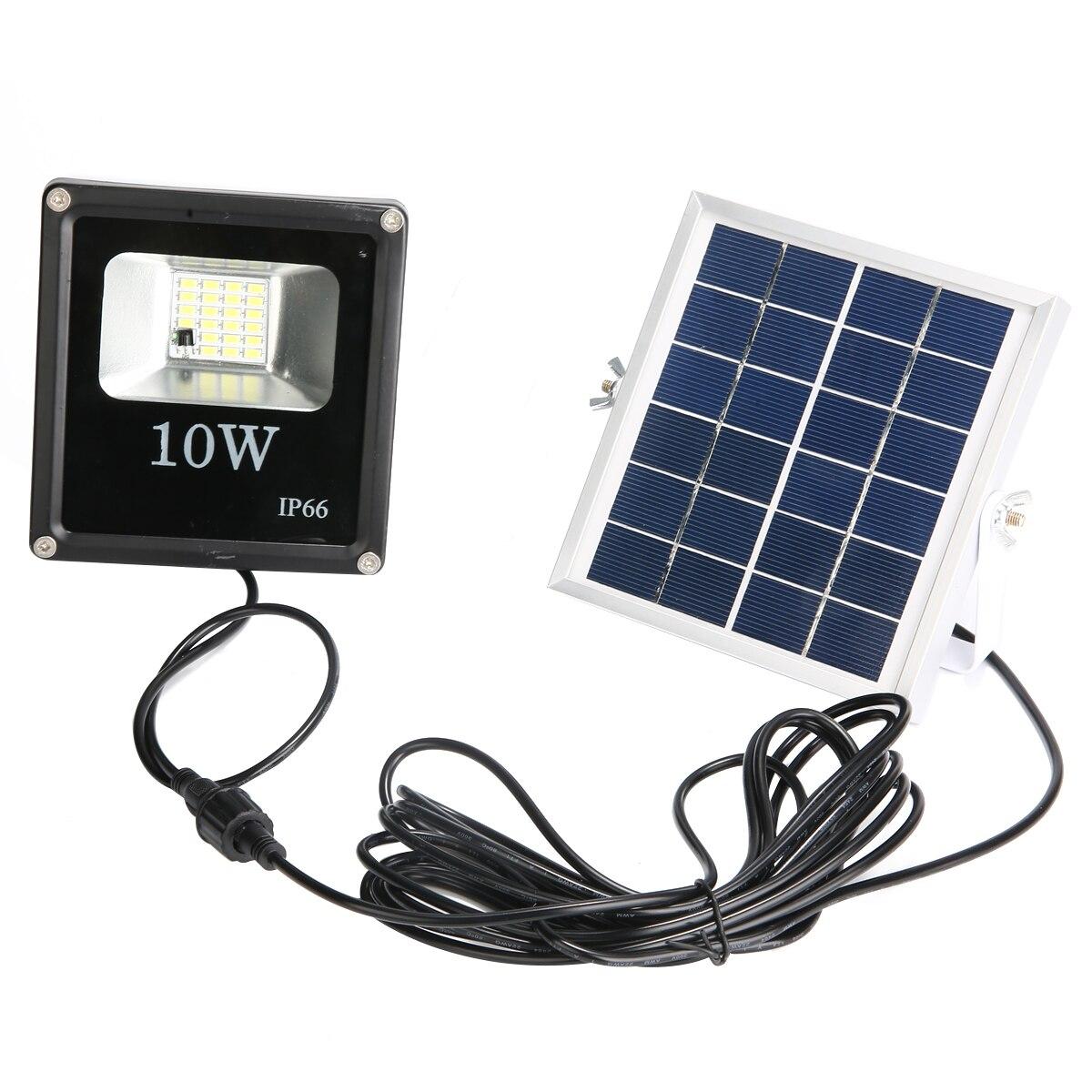 holofotes luz de inundação ip66 jardim lâmpada solar com controle remoto