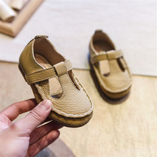 Shoes Genuine-Leather for Girls Cute Soft-Bottom Comfortable Toddler Baby EU 21-25 Kids