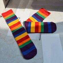 Socks Baby Girl Knee High Rainbow Princess Cute Baby