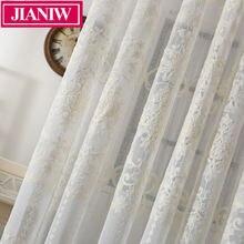 Jianiw Европейский стиль вышитый тюль для гостиной кухни отвесная