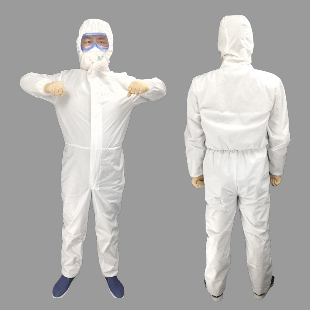 Safety Protective Suit Factory Laboratory Disposable Non-Woven Protection Suit Free Size Protective Clothes Durable Long Lasting