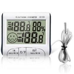 Погодная станция для использования в помещении и на улице, измеритель температуры и влажности, термометр-гигрометр