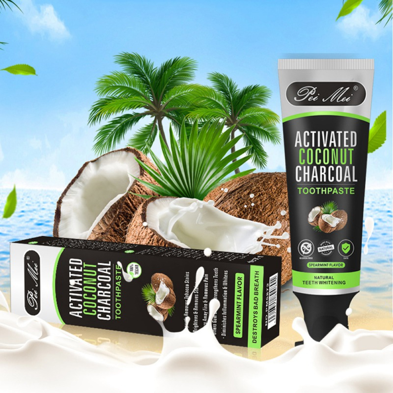 Natural Activated Charcoal Teeth Whitening Cleaner Toothpaste Tooth Care