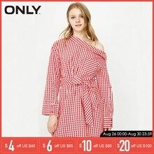 цена на ONLY 2019 Spring Summer Dress Women Casual Dress Long Sleeve Checked Dress |118107547