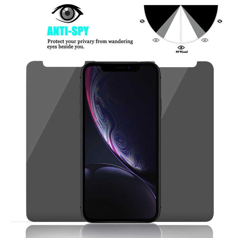 9H กระจกนิรภัย Anti-Spy สำหรับ iPhone 5 6 S SE 7 7 PLUS PLUS Magic ความเป็นส่วนตัวป้องกันหน้าจอสำหรับ iPhone X XR XS MAX
