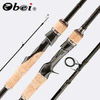 Obei perigee baitcasting vara de pesca viagem ultra leve fiação isca 5g-40g m/ml/mh/xh haste 1.8m 2.1m 2.4m 2.7m 3 seção