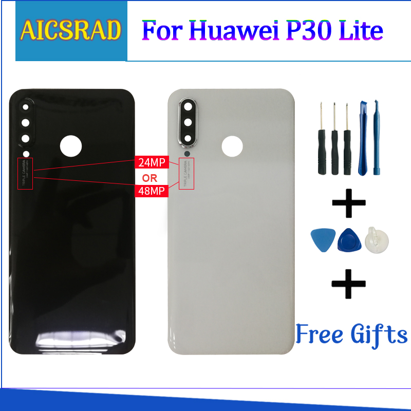 Glass Rear Housing Cover For Huawei P30 Lite Back Door Replacement Battery Case For P30 Lite Glass Battery Cover
