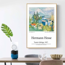 Hermann Hesse Tessin Gebirge Canvas Painting Landscape Poster Pop Art Print Decoration Wall Picture for Living Room Home Decor