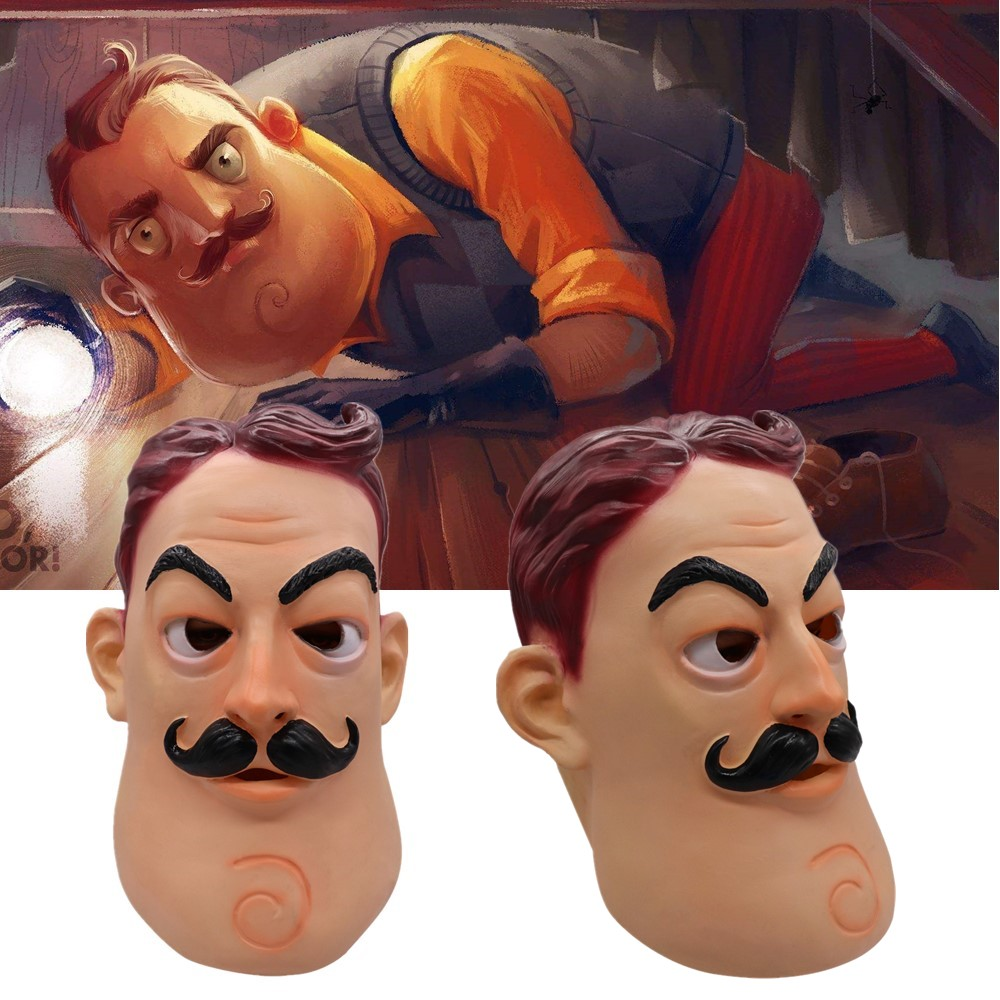 Anime Cosplay Game Hello Neighbor Masque Mask Latex Mask Helmet Party Cosplay Props