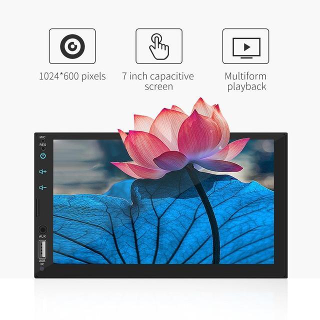 Écran capacitif HD de 7 pouces pour voiture   MP5, hôte de voiture, jouer, téléphone portable, lecteur intégré, voiture, stéréo, écran entièrement tactile