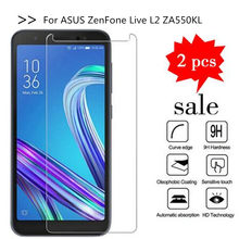 2PCS Glass For Asus ZenFone Live L2 ZA550KL Screen Protector Tempered Glass For Asus ZenFone Live L2 ZA550KL Protective Film(China)