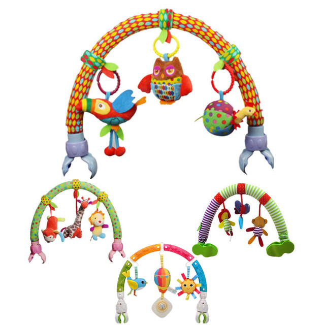 Ocean Forest Sky Baby Stroller Car Clip Lathe Hanging Seat & Stroller Toys Kid Flying Animal Educational Toy Removable 20%Off
