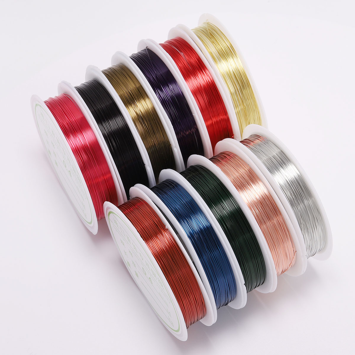1 Roll 0.3 0.4mm Wire Diameter Roll Copper Wire Beading Cord  Fit Craft Beading Wire Jewelry Making Cord For DIY Jewelry Making