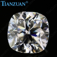 DF GH ij color 5 12mm white cushion shape dia mond cut Sic material moissanites loose gem stone