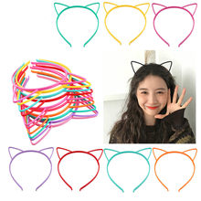 Cat Ears Headbands Crown Tiara Princess with Plastic Animal Hair Band Butterfly Bow Hoop Accessories Boho Headwear(China)